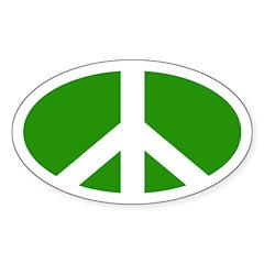 Peace Sign (Oval Bumper Sticker)