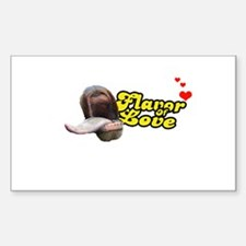 Flavor of Love Rectangle Decal