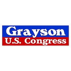 Grayson for Congress Bumper Bumper Sticker