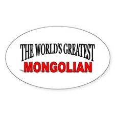 """""""The World's Greatest Mondogian"""" Oval Decal"""