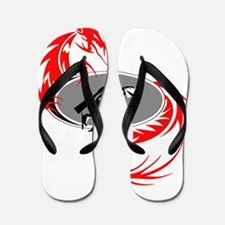 Dragon Blades Transparent Logo Flip Flops