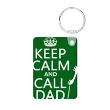 Keep Calm and Call Dad Keychains