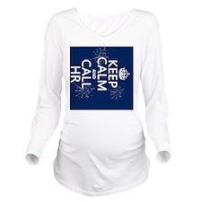 Keep Calm and Call H Long Sleeve Maternity T-Shirt