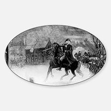 washington at trenton Sticker (Oval)