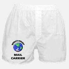 World's Coolest Mail Carrier Boxer Shorts