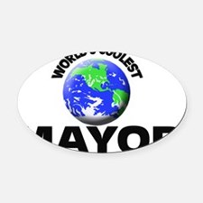 World's Coolest Mayor Oval Car Magnet
