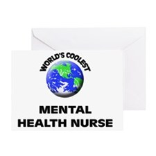 World's Coolest Mental Health Nurse Greeting Card