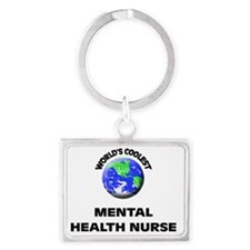 World's Coolest Mental Health N Landscape Keychain