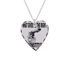 Gun Control Necklace Heart Charm