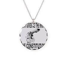 Gun Control Necklace Circle Charm