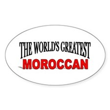 """The World's Greatest Moroccan"" Oval Decal"