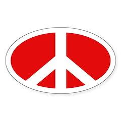 Peace Sign (Oval Bumpersticker)
