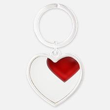 I Heart Saint Martin Heart Keychain
