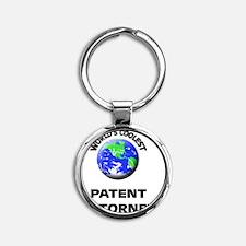 World's Coolest Patent Attorney Round Keychain