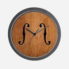 f-hole-713-BUT Wall Clock