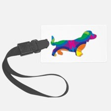 A Doxie Going in Circles Luggage Tag