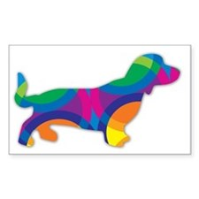 A Doxie Going in Circles Decal