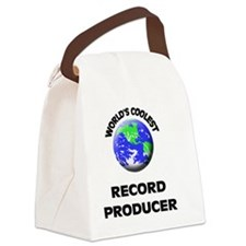 World's Coolest Record Producer Canvas Lunch Bag
