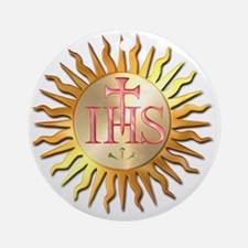 Jesuits Seal Round Ornament