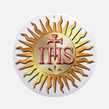 Jesuits Seal Round Ornament