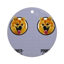 Pomeranian Dad Round Ornament