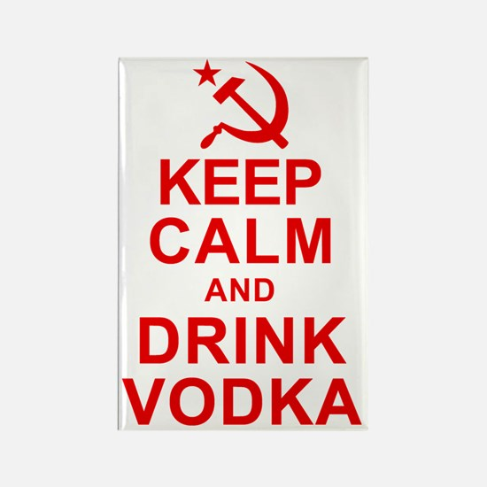 Keep Calm and Drink Vodka Rectangle Magnet