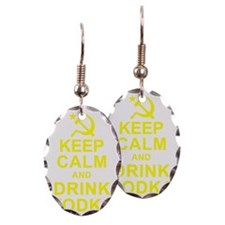 Keep Calm and Drink Vodka Earring