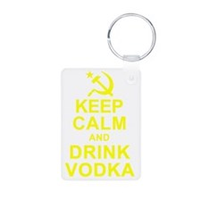 Keep Calm and Drink Vodka Keychains