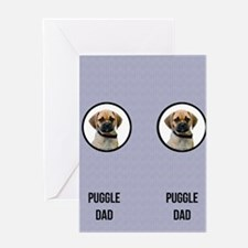 Puggle Dad Greeting Card