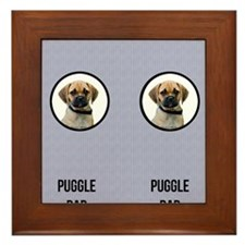 Puggle Dad Framed Tile