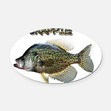 Crappie Oval Car Magnet