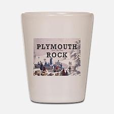 plymouthrock1 Shot Glass