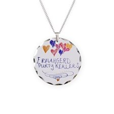 Purty Kerlers Necklace Circle Charm