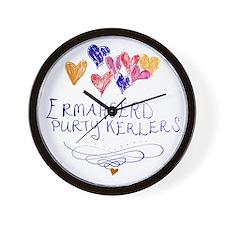Purty Kerlers Wall Clock