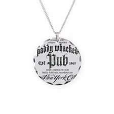 Paddy Whacked Pub Necklace Circle Charm