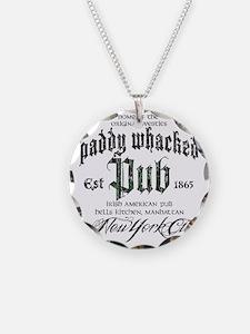 Paddy Whacked Pub Necklace Circle Charm