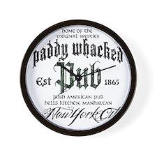 Paddy Whacked Pub Wall Clock