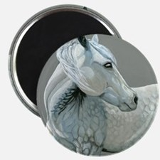 gray horse Magnet