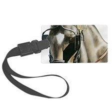 horse with blinkers Luggage Tag