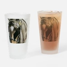 horse with blinkers Drinking Glass