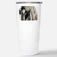 horse with blinkers Travel Mug