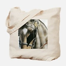 horse with blinkers Tote Bag