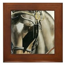 horse with blinkers Framed Tile