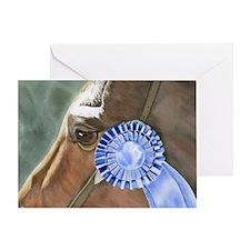 blue ribbon winner Greeting Card