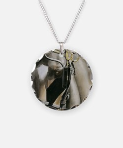 horse with blinkers Necklace