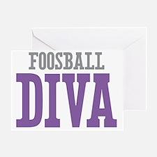 Foosball DIVA Greeting Card