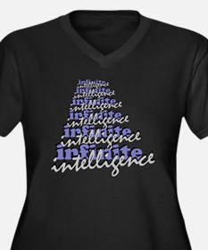 Infinite Int Women's Plus Size Dark V-Neck T-Shirt
