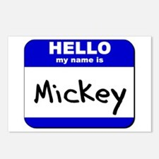 hello my name is mickey  Postcards (Package of 8)