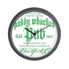 Paddy Whacked Pub Wall Clock