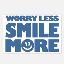 Worry Less Smile More - S Postcards (Package of 8)